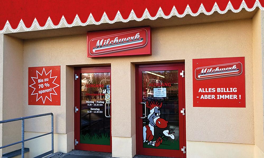 Milchwerk Sonderpostenmarkt Freiberg