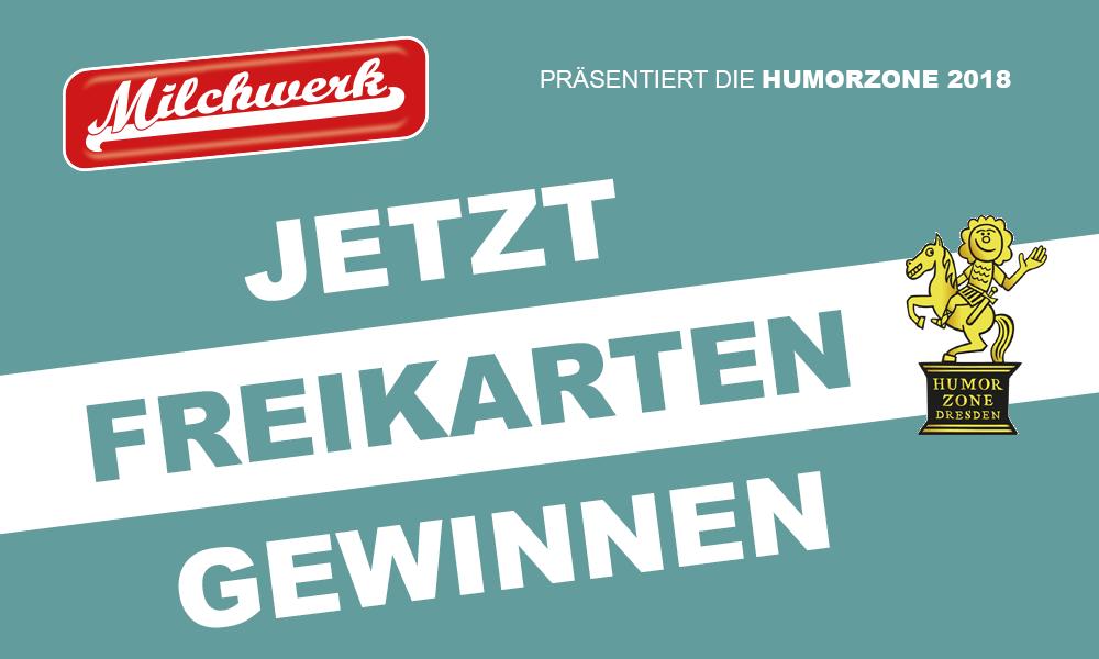 Gewinnen Sie Freikarten für die HumorZone Dresden 2018