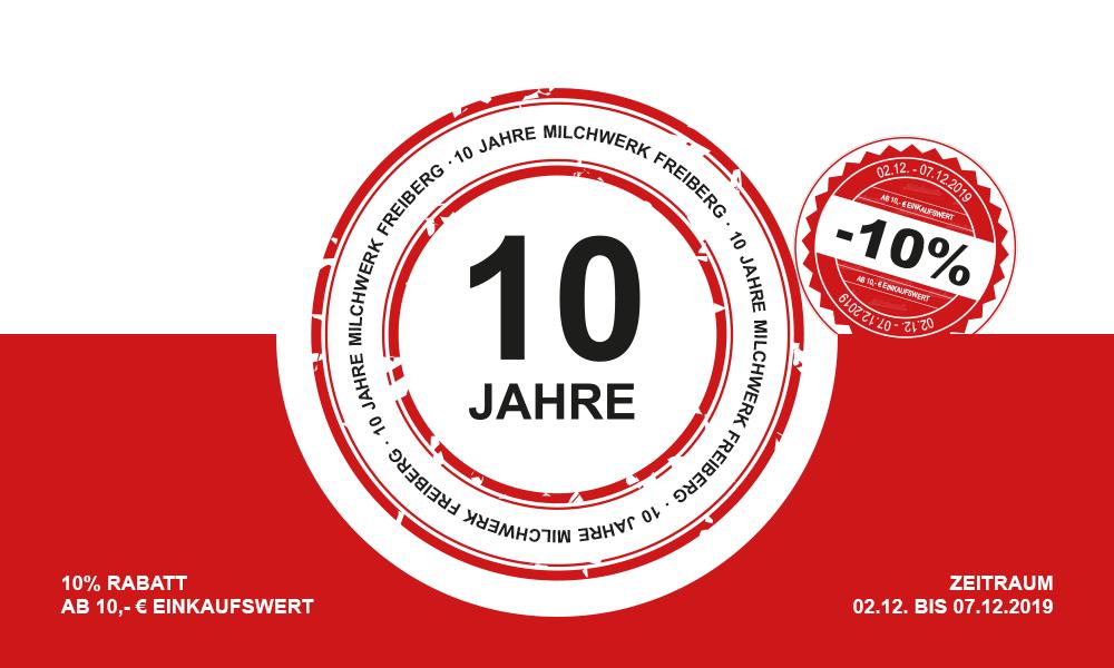 10-jähriges Jubiläum im Sonderpostenmarkt Freiberg