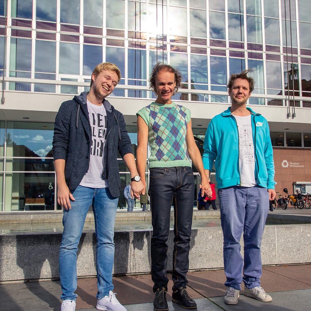 Foto: Roman Neuhäuser, v.l.n.r.: Marc Weide, Olaf Schubert, Archie Clapp