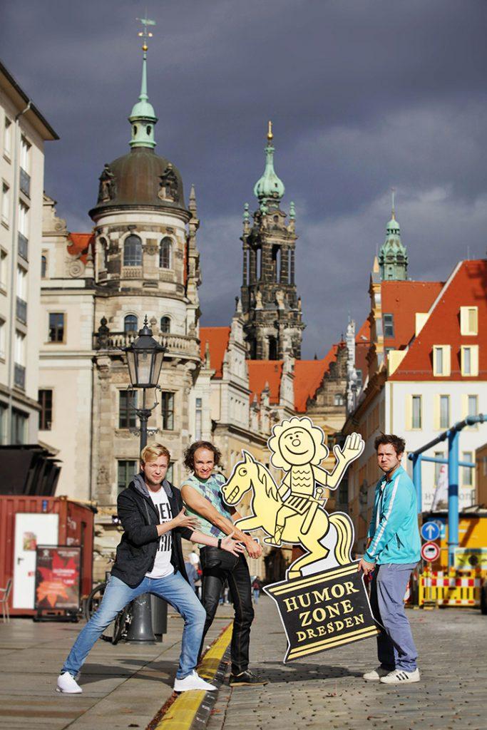 Foto: Amac Garbe, v.l.n.r.: Marc Weide, Olaf Schubert, Archie Clapp