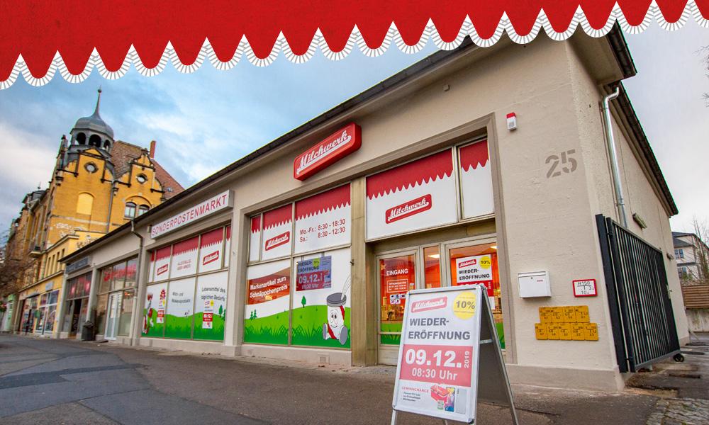 Milchwerk Sonderpostenmarkt Dresden Löbtau